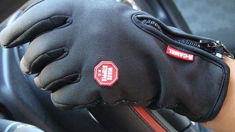 Cyklistické rukavice se zipem - 3 barvy