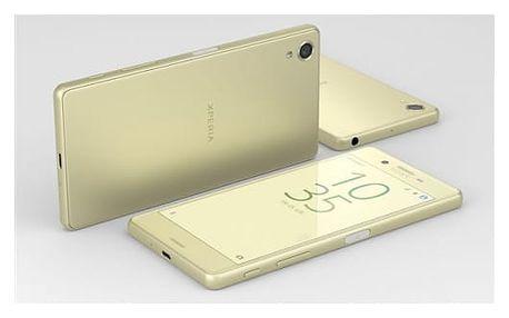 Mobilní telefon Sony X (F5121) - Lime Gold (1303-0695)