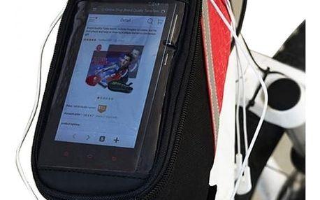 Cyklistická taška na rám kola s průzorem na smartphone