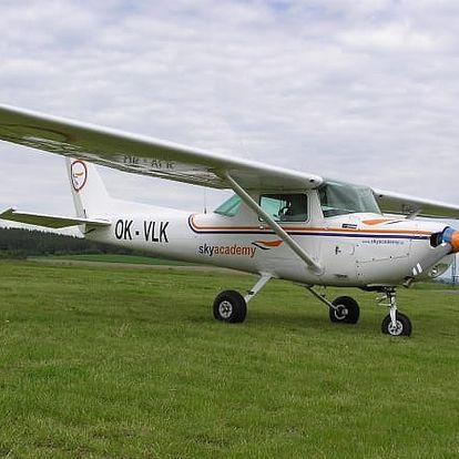 Pilotem na zkoušku či vyhlídkový let pro 2 osoby