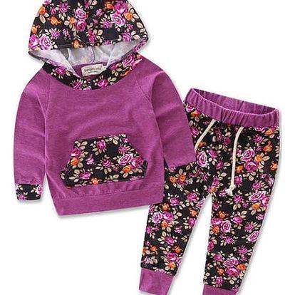 Tepláková souprava s kapucí pro holčičky - 12 vzorů