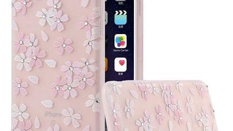 Luxusní květinový kryt na telefon iPhone 6, 6S, 6S Plus
