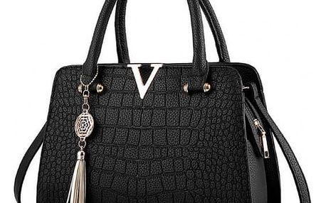 Luxusní kabelka imitujíci krokodýlí kůži