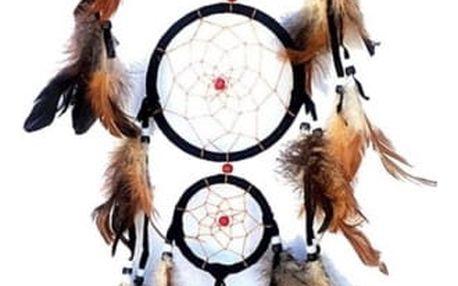 Bohatě zdobený indiánský lapač snů - dodání do 2 dnů