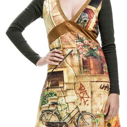 Culito from Spain barevné šaty Grafiti - M