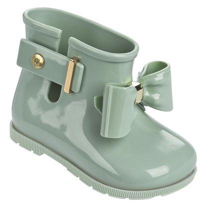 Melissa zelené dětské kotníkové boty Sugar Rain Bow Green - 27