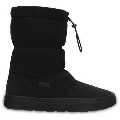 Crocs černé sněhule Lodgepoint Pull-on Boot Black - W6