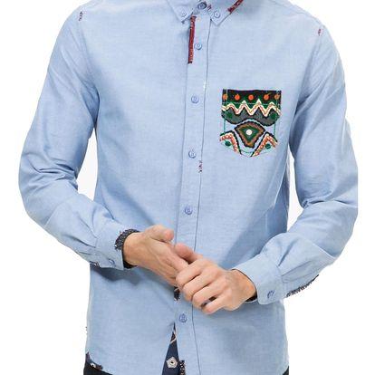 Desigual modrá pánská košile Pocket - M