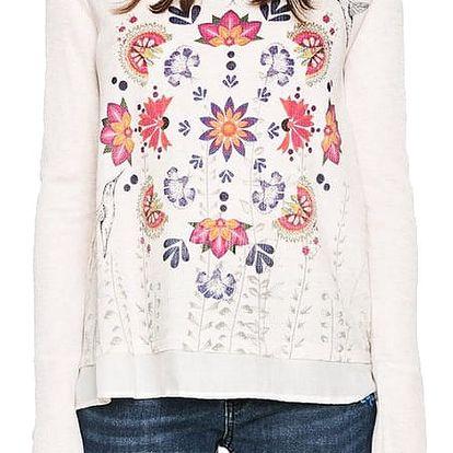 Desigual béžové tričko Rachel - L