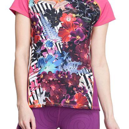 Desigual barevné sportovní triko Short Sleeve A - M