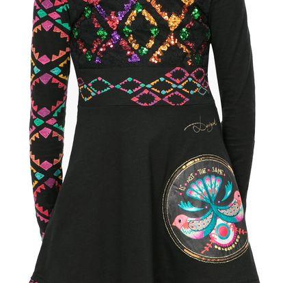 Desigual černé dívčí šaty s flitry Uagagudu - 4