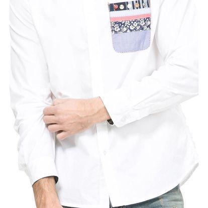 Desigual bílá pánská košile Joya 2 - XL