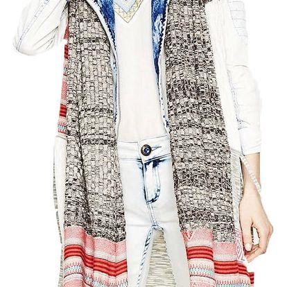 Desigual barevná vesta Mencia - XL
