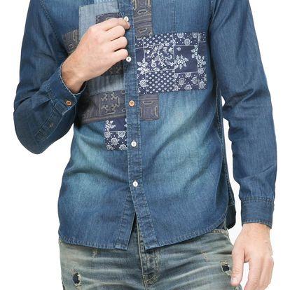 Desigual denim pánská košile Pol - L