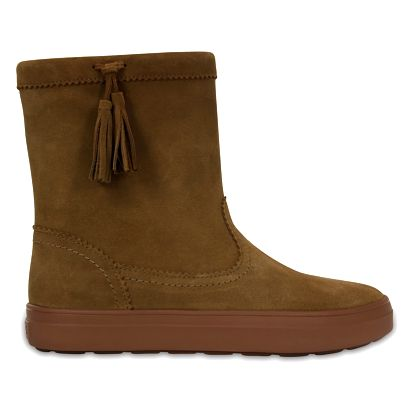 Crocs hnědé kožačky Logepoint Suede Pullon Boot - W7