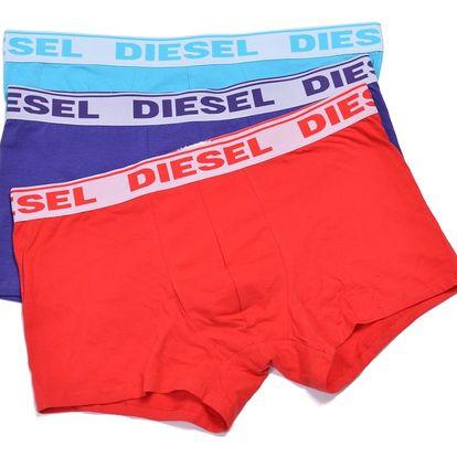 Diesel 3 pack barevných boxerek Fresh&Bright - XXL