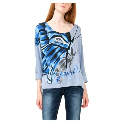 Desigual modré tričko Mireia - L