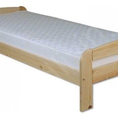 Dřevěná postel 90x200 LK122 olše