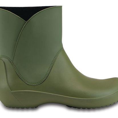 Crocs zelené holínky Rainfloe Bootie Army Green - W9