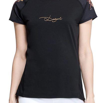 Desigual černé sportovní triko Short Sleeve G - L