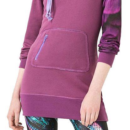 Desigual fialová sportovní mikina LSweater W - L
