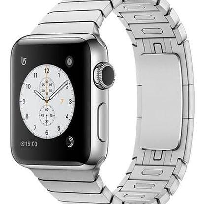 Chytré hodinky Apple Watch Series 2 38mm Nerez ocel s článkovým tahem MNP52CN/A