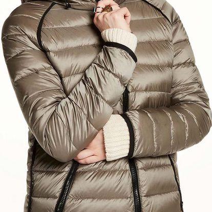Scotch&Soda khaki dámská bunda Hooded Puffer - S