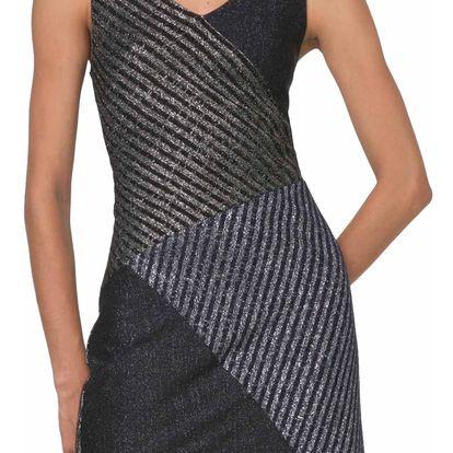 Desigual třpytivé úpletové šaty Aldara - M