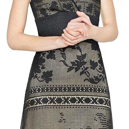Desigual černé krajkové šaty Elga - XXL