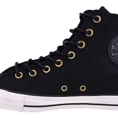 Converse černé pánské tenisky Chuck Taylor All Star se zlatými doplňky - 45