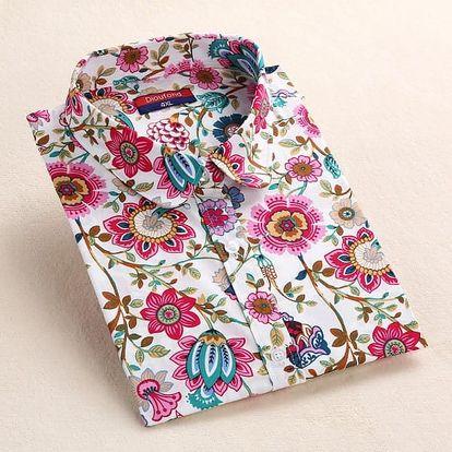 Dámská košile v mnoha vzorech - od velryb po květiny, vel. 2-9