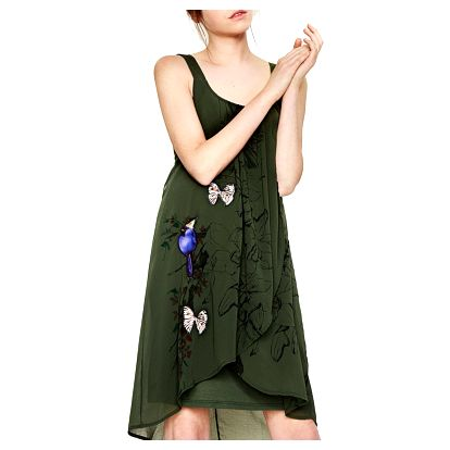 Desigual zelené šaty Pureza - 44