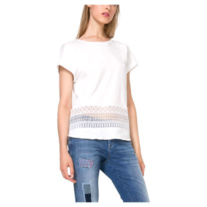 Desigual bílé triko Bali - XL