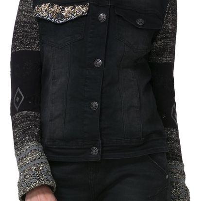 Desigual černá džínová bunda Sally - 38
