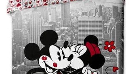 Jerry Fabrics Dětské povlečení MICKEY A MINNIE V NEW YORKU 140x200, 70x90
