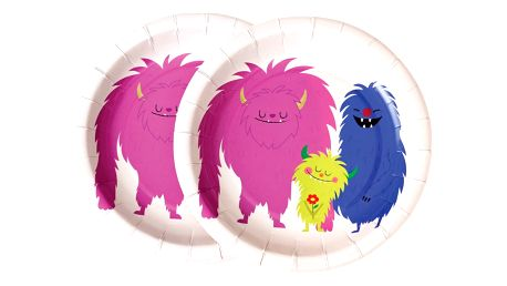 Sada 8 papírových talířků Rex London Monsters Of The World