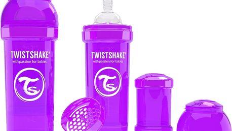 TWISTSHAKE Antikoliková láhev 260ml Fialová