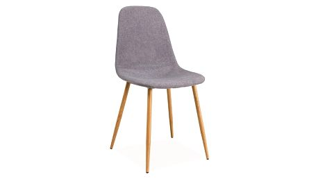Jídelní čalouněná židle FOX šedá/dub