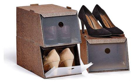 Sada 3 úložných boxů na obuv Domopak