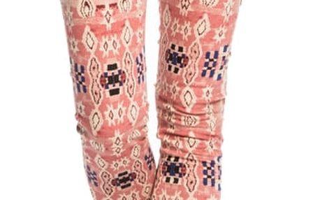 Scotch&Soda dámské růžové vzorované kalhoty - 28/32