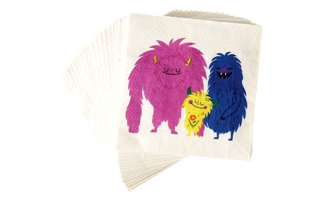 Sada 20 papírových ubrousků Rex London Monsters Of The World