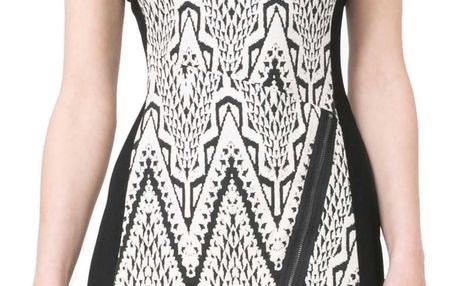 Desigual černo-bílé šaty Oregon - 42