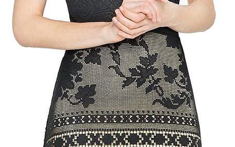 Desigual černé krajkové šaty Elga - M