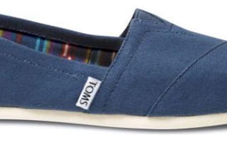 Toms modré pánské boty Navy Canvas - 46
