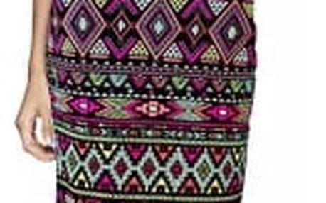 Elastická pouzdrová sukně v zajímavých vzorech - více variant