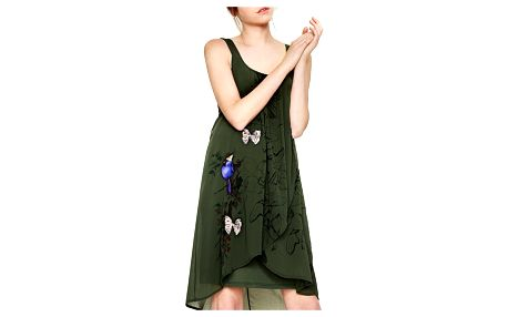 Desigual zelené šaty Pureza - 36