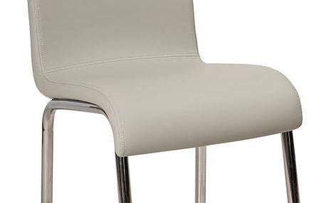 Jídelní čalouněná židle H-161 šedá/bílá