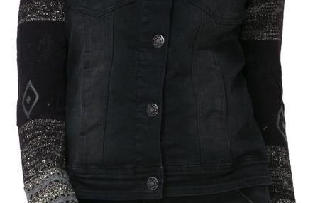 Desigual černá džínová bunda Sally - 40