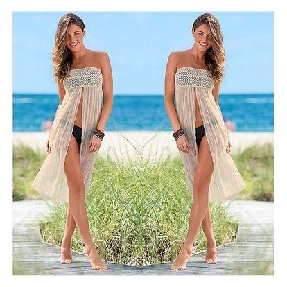 Háčkované šaty a sukně v jednom na pláž Aurélie!