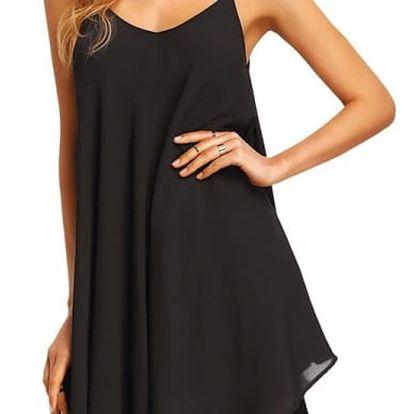 Mini letní šaty ve volném střihu